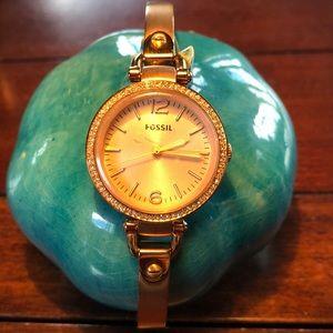 Fossil RoseGold Diamond Watch Women